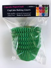 Baking Liners Green Pk100