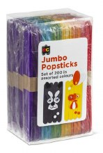 Jumbo Popsticks Coloured (200)