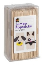 Jumbo Popsticks Natural (200)