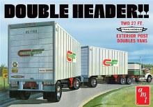 "1:25 Scale ""Double Header"" Tandem Van Trailers - AMT1132"