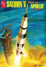 1:200 Scale Saturn V Rocket & Apollo Spacecraft - AMT1174