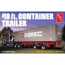 1:24 Scale 40ft Semi Container Trailer - AMT1196