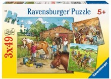 A Day with Horses 3 x 49pc - RB09237