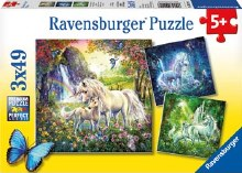 Beautiful Unicorns Puzzle 3 x 49pc - RB09291