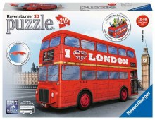 London Bus 3D Puzzle 216pc - RB12534