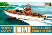 1:25 Scale 1959 22ft Owens Outboard Deluxe Cruiser Boat - LIN222