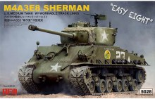 "1:35 Scale M4A3E8 Sherman ""Easy Eight"" w/Workable Track Links - RM-5028"