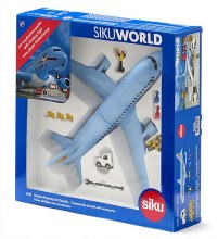 Airliner with Accessories, Plastic, Light Blue, Many Functions, Combined Models in Same Scale - 5402
