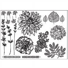 Cake Hand Drawn Florals Silicone Mat