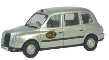 1:43 Scale TX4 Taxi Dial A Cab Silver - TX4004