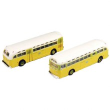 N Scale GMC TD 3610 Transit Bus 2-Pack Chicago - 22152302