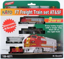 N Scale EMD F7 AT&SF Freight Train Pack - 1066271