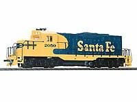 HO Scale EMD GP9M Santa Fe Standard DC - 931103