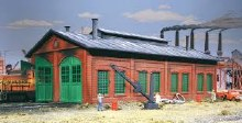HO Scale 2-Stall Engine Shed Plastic Kit - 9333007