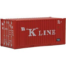 HO Scale 20' Corrugated Container with Flat Panel K-Line - 949-8013