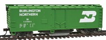 HO Scale 40' Plug-Door Track Cleaning Boxcar Burlington Northern - 9311753