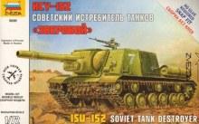 1:72 Scale Self Propelled Gun ISU-152 Snap Fit - ZV5026