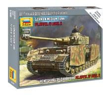1:100 Scale German Medium Tank PZ.KPFW. IV AUSF.H Snap Fit - ZV6240
