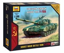 1:100 Scale Soviet Main Battle Tank T-72B Snap Fit - ZV7400