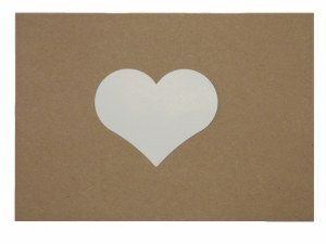HEARTS WHITE CARD 10CM 15PK