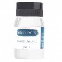 ACRYLIC 500ML ELEMENT T.WHITE