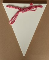 BUNTING WHITE CARD LARGE 12PK