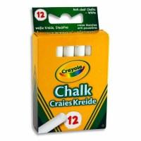 CRAYOLA WHITE CHALK 12PK