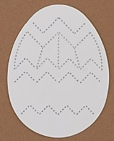 EASTER EGG M WHITE CARD PK15