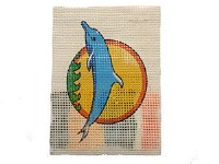 EMBROIDERY DOLPHIN