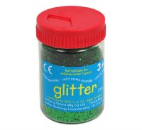 GLITTER TUB GREEN 100GM