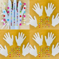 HAND 15PK  WHITE + RHINESTONES