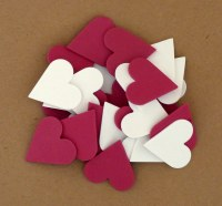 HEARTS FOAM RED & WHITE 30PK