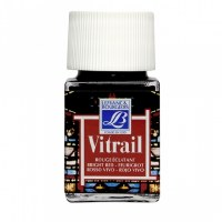 GLASS PAINT VITRAIL BRIGHT RED