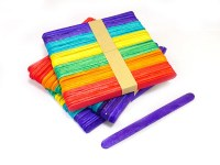 LOLLIPOP STICKS 50PK COLOURED