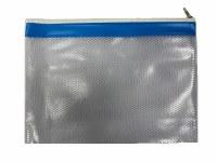 MESH BAG A4+ COLOUR STRIP BLUE