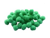 POM POMS 12MM GREEN PK30