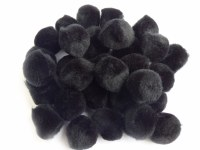 POM POMS BLACK 20MM BAG 30PK