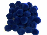 POM POMS BLUE 20MM BAG 30PK