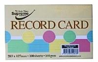 RECORD CARD 8X5 ASST.5 PASTEL