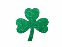 SHAMROCK GLITTER SHAPES 5PK