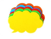 SPEECH BUBBLE COLOUR CARD 50PK