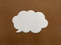 SPEECH BUBBLE WHITE CARD 15PK