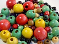 WOODEN CRAFT BEADS 75PK