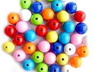 BEADS ASSORTED COLOURS PK 40
