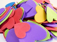 FOAM SHAPES HEARTS ASSORTED