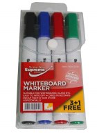 WHITEBOARD MARKERS 4 PACK
