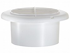 4'' Dampered Vent - White
