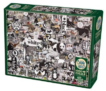 Cobble Hill 1000pc Black & White Animals