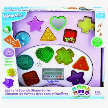 Kidoozie Lights And Sounds Shape Sorter