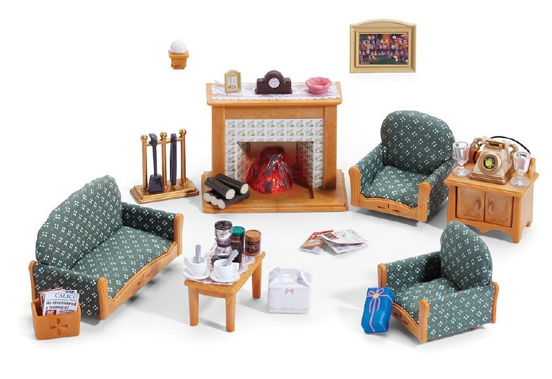 Calico Critters Living Room.Calico Critters Deluxe Living Room Set